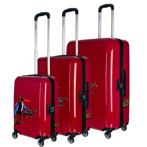928fd066f4a20 Zestaw walizek na kółkach Tropical Sound (Red) - BG Berlin