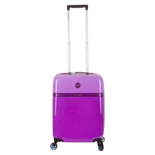 aa033928a3e83 Mała walizka na kółkach Purple Bloom - BG Berlin